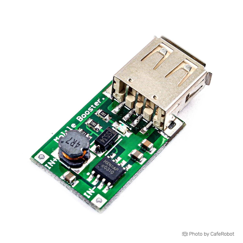 ماژول رگولاتور DC به DC افزاینده دارای خروجی 1.2A 5V USB