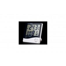 دماسنج و رطوبت سنج و ساعت رومیزی مدل HTC-1